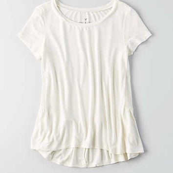 AEO Soft & Sexy Ribbed Swing T-Shirt , White