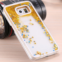 Star Glitter Waterfall Case - GALAXY S6