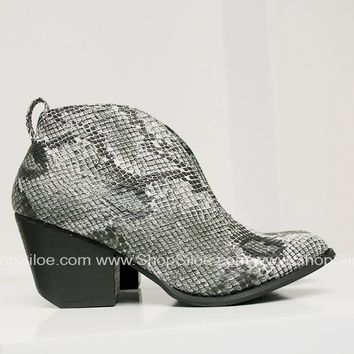 Holiday White Snake Booties