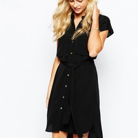 Oasis Military Shirt Dress at asos.com