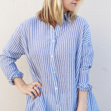 Beach Linens Striped Tunic