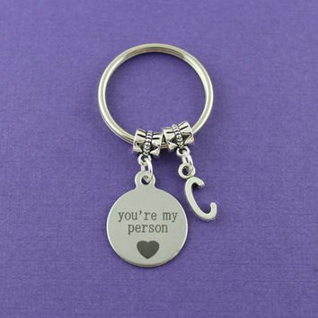 Best Seller - You're My Person Keychain - Greys Anatomy Gift - BFF Keychain - You Are My Person keychain - Best Selling Accessories on Etsy