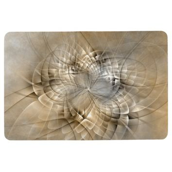 Earth Tones Abstract Modern Fractal Art Texture Floor Mat