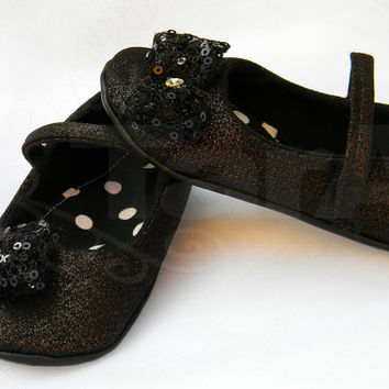 Baby Girl Shoes Toddler Girl Shoes Infant Shoes Soft Soled Shoes Modern Girl Shoes Birthday Girl Shoes black gold sequin shoes