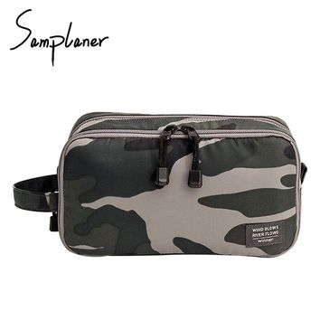 Samplaner Zipper Men Wash Bags For Travel Women Cosmetic Bags Ladies Make-up Bags Toiletry Kits Pouch Cosmetics Case Organizer