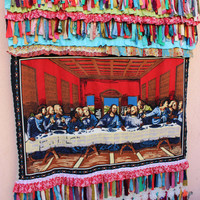 The Last Supper Curtain Gypsy Curtain Fringe Curtain Boho Backdrop EXPRESS SHIPPING