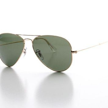 Kalete New Ray-Ban Aviator Sunglasses RB 3025 001/58 58MM POLARIZED Gold/Grey Green len