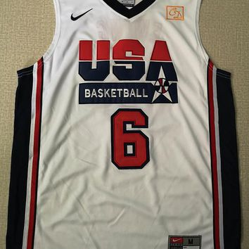 USA Dream Team #6 Patrick Ewing White Jerseys - Best Deal Online