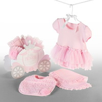 Baby Aspen BA11046PK Little Princess Bib - Burp & Bodysuit for Baby