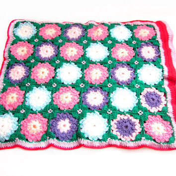 Handmade Crochet Granny Square Pillow Case
