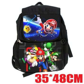 Super Mario party nes switch Surrounding the game  bros. Mary bag computer bag backpack backpack students AT_80_8