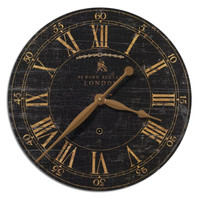 High Pointe Furnishings, Archer Street 18-Inch Black Wall Clock