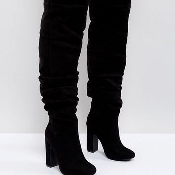 Truffle Collection Slouch Knee High Boot at asos.com