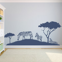 Zebra Safari Wall Decal