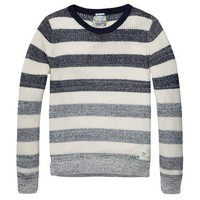 Navy and White Striped Sweater By Scotch & Soda