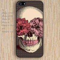 iPhone 5s 6 case colorful skull flowers skull phone case iphone case,ipod case,samsung galaxy case available plastic rubber case waterproof B354