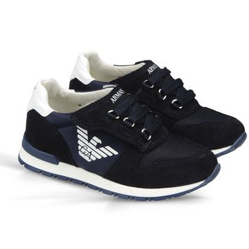 Armani Boys Navy Blue Sneakers