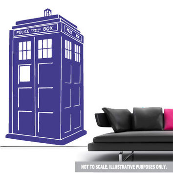 shop tardis wall decal on wanelo. Black Bedroom Furniture Sets. Home Design Ideas