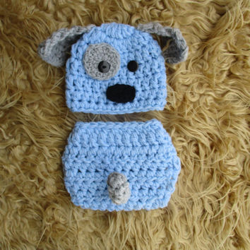 Newborn Puppy Hat Baby Puppy Dog Hat Baby Boy Puppy Hat Crochet Puppy Hat Newborn Boy Photo Prop Baby Boy Clothes Newborn Boy Hat