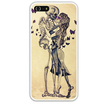 Sugar skull and skeleton iPhone 4/4s/5 case