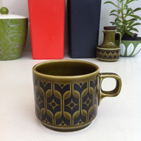 Vintage, green, Hornsea Heirloom teacup!!