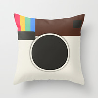 Insta Throw Pillow by Pop E. Carp