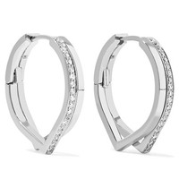 Repossi - Antifer 18-karat white gold diamond earrings