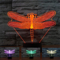Dragonfly 3D LED Illusion Lamp