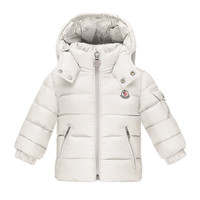 Jules Zip-Front Puffer Coat, White, Size 12M-3, Size: