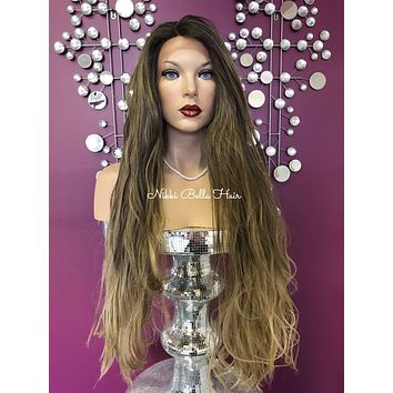 Blond lace front wig #1