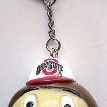 OHIO STATE OSU BUCKEYES 4-IN-1 KEY CHAIN, BACKPACK HANGER, PENCIL/ANTENNA TOPPER