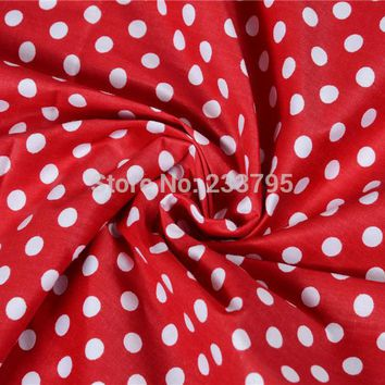 Minimum Order 1meter Red White Point Multicolor Polka Dot cotton fabric tilda fabrics patchwork cotton fabric home textile AA007
