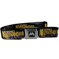 Asking Alexandria Worm Skull Seatbelt Belt - Buy Online at Grindstore.com