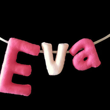Custom Nursery Letters, Name Banner, Bunting, Felt Letters, Kids personalized Name, Nursery Decor, Name Bunting Banner, Felt, Name Sign