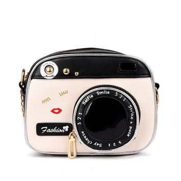 2017 Fashion Camera Shape Shoulder Bag Personality Camera Modeling Bag Women Messenger Chain Bag Cheap Women Handbags