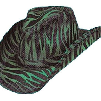Peter Grimm Ltd None Flora Zebra Stripe Unisex Cowboy Hat Black One Size