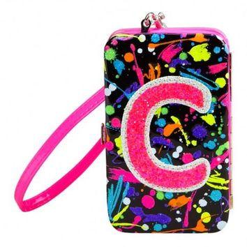 Paint Splatter Initial Tech Wallet | Girls Cases & More Electronics | Shop Justice