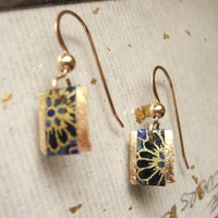 japanese paper washi paper origami paper 14 karat gold filled earrings by cra1nes on etsy