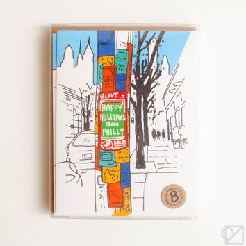 Philly Street Flyer Holiday 8 Card Box Set