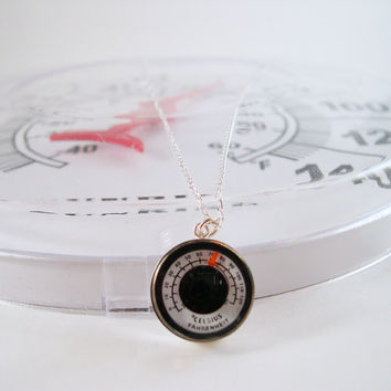 YOU Are Soooo Hot - REAL Working Mini Thermometer Necklace - Sterling