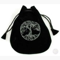 Tree of Life Velveteen Bag