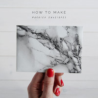 How to Make Marbled Contact Paper Envelopes | Fall For DIY