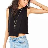 Lucca Couture Clean Crossover Tank Top