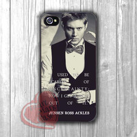 Supernatural Jensen Ackles and Quote -Lx for iPhone 4/4S/5/5S/5C/6/ 6+,samsung S3/S4/S5,samsung note 3/4