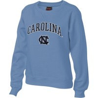 North Carolina Tar Heels Women's Carolina Blue Tackle Twill Crewneck Sweatshirt
