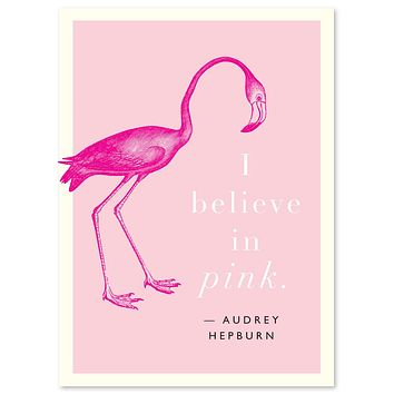 "Audrey Hepburn ""Pink"" Quote Card"