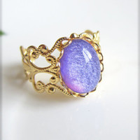 Faux Fire Opal Ring