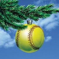 """Softball Ornament"" Holiday Cards ON SALE $9.95"