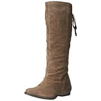 Naughty Monkey Womens Arctic Solstice Suede Covered Knee-High Boots