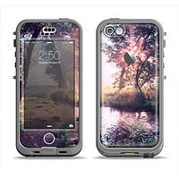 The Vivid Colored Forrest Scene Apple iPhone 5c LifeProof Nuud Case Skin Set
